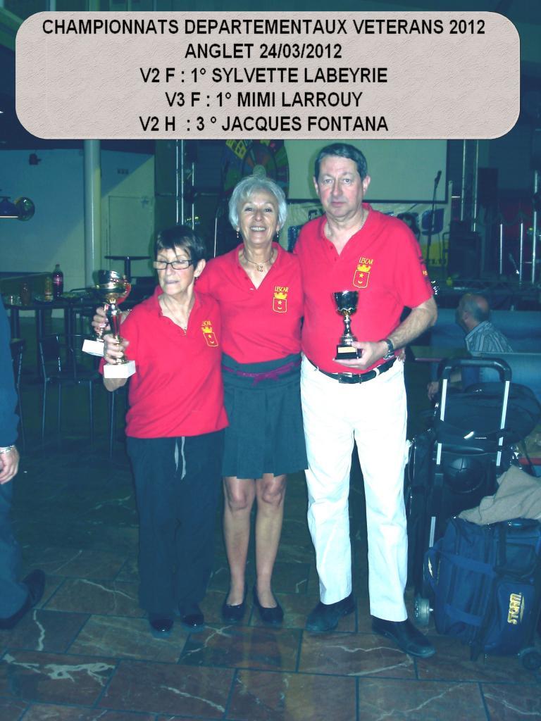 Championnat départementaux vétérans 2012