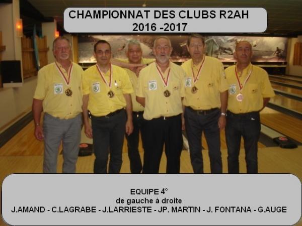 CHAMPIONNAT DES CLUB 2016 -  2017