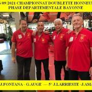 26/09/2021 Doublette Départementale BAYONNE
