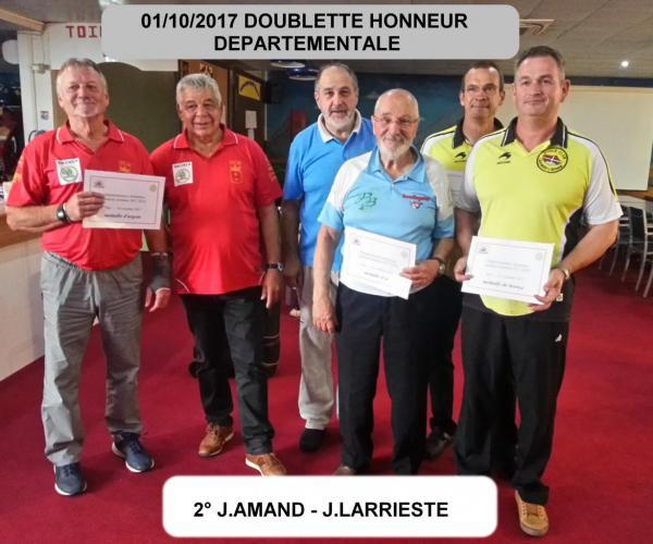 doublette honneur departementale saison 2017/2018