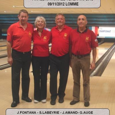 Finalistes championnat de France vétérans