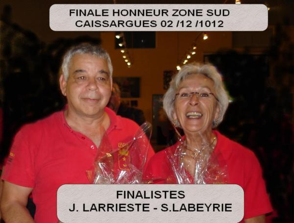 Finalistes championnat honneur zone sud
