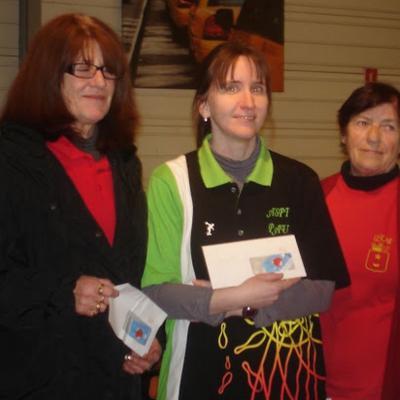 Podium dames ligue d'hiver 2013