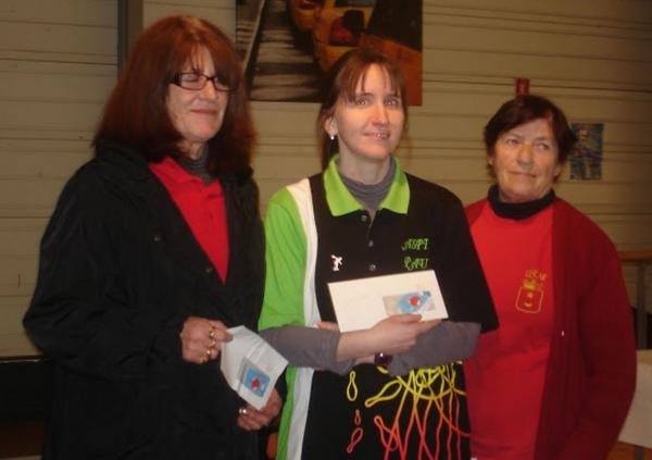 Podium dames ligue d'hiver 2013