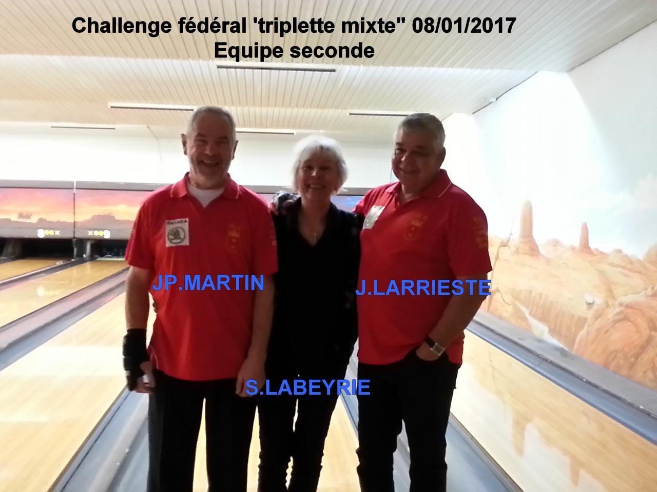 Challenge fédéral triplette mixte