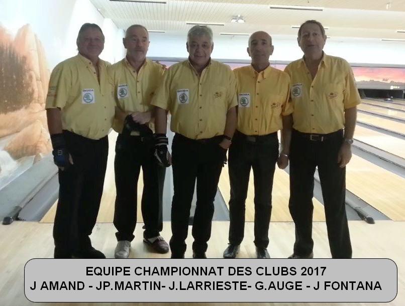 Equipe championnat des clubs 2017