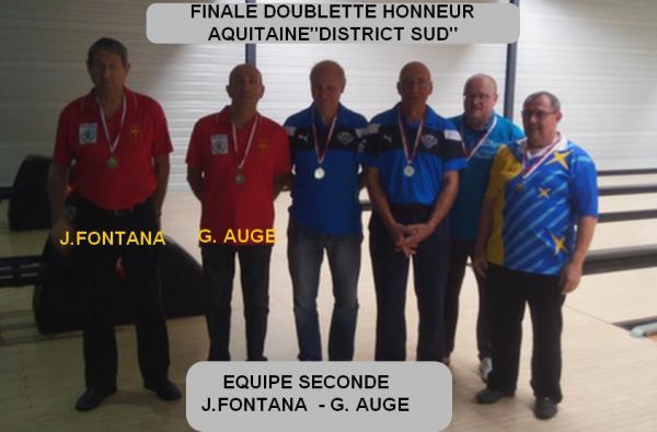 Poium doublette honneur