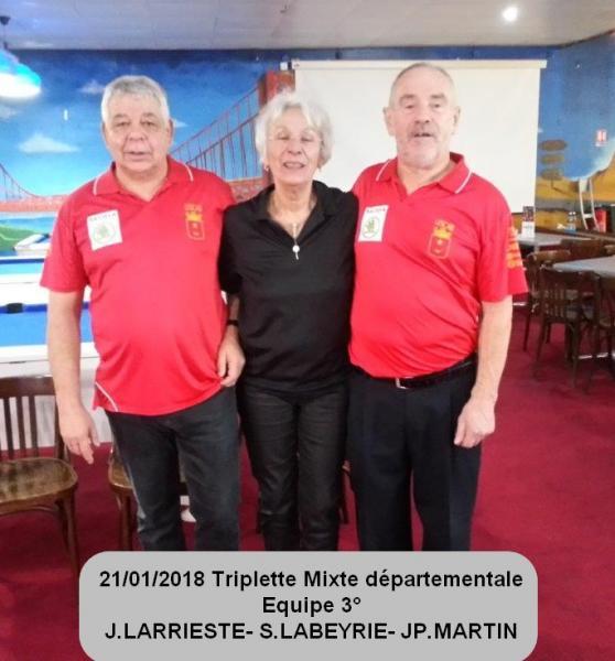 Triplette mixte 1
